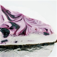 Blueberry Swirl Cheesecake for 2