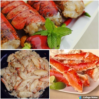 Lobster Tails, Crab Legs & Crab Meat