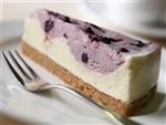 Sugar Free Blueberry Swirl Cheesecake